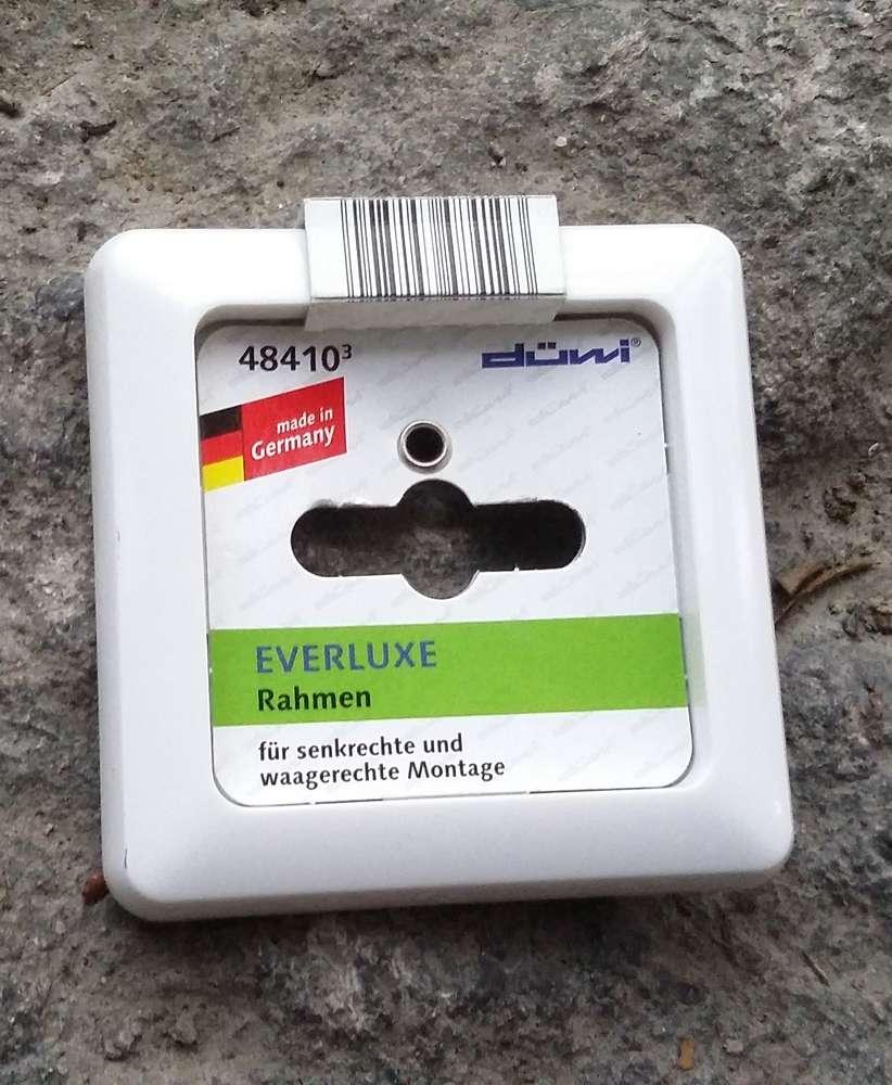 Düwi/REV Everluxe 1-fach Rahmen alpinweiß / weiß