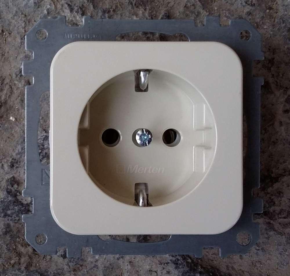 M1  Kontrollschalter mit Wippe in polarweiss Merten ATELIER